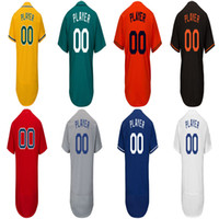 Wholesale names personal - Accept Personal customized Name and Numbers Baseball Team Jerseys Men's women's kids Custom Jersey Free Drop shipping