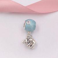 balloon jewelry venda por atacado-Authentic 925 Sterling Silver Beads Elefante E Balão Azul Charme Encantos Se Encaixa Pandora Europeu Estilo Jóias Pulseiras Colar 797239EN