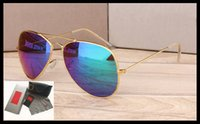 fabricantes de resina al por mayor-Las gafas de sol de venta directa del fabricante nueva resina de metal de alta calidad el hombre de caja de regalo de cristal de sol es gafas de sol.