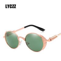 3613581b7d9 LYCZZ Gothic Steampunk Sunglasses Women Men Vintage Retro Oval Metal Frame  Sun Glasses UV400 Steam Punk Goggles Mirrored Oculos