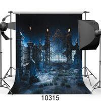 vinylfotografie backdrops halloween großhandel-Foto Hintergründe für Foto Studio Halloween Friedhof Vinyl Fotografie Kulissen für Kinder Party Schießen