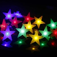 Wholesale Holiday Frosting - LED solar battery frosted star string lights 2018 new holiday lights Christmas lights party party set wholesale free shipping