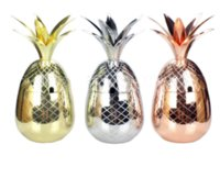 Wholesale copper drink - Pineapple Tumbler Moscow Mule Mugs 500ml Beer Copper Mug Stainless Steel Cup Cocktail Cup Wine Glass Drinking Bar Tool