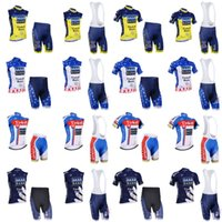 Wholesale jersey cycling saxo green - Hot Tinkoff saxo bank New Cycling short sleeve Jerseys Bike Clothes Quick Dry Bicycle Sportwear Ropa Ciclismo GEL Pad Bike Bib shorts F60406