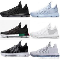 kevin days NZ - Wholesale Cheap brand 2018 KD 10 Multi-Color Oreo Numbers BHM Igloo Men Basketball Shoes KD 10 X Elite Mid Kevin Durant Sport Sneakers