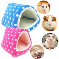 Wholesale cave beds for sale - Pet Warm Soft House Cave Small Animal Pet Hamster Rat Guinea Pig Hedgehog Fleece Cave Cage Nest Bed