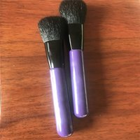 Wholesale high brand brush set for sale - High Quallity Famous Brand Selena Collection Limited Edition Short Handle Brush Powder Blush Brush