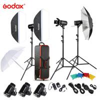подставка для софтбокса оптовых-Godox E300-D 300W Photography Solutions Studio Speedlite Flash Strobe with Flash Trigger/ Light Stand/ Softbox/ Barn Door