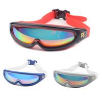 Wholesale uv swim goggles resale online - New adult Swimming glasses Waterproof Anti Fog UV Men Women Sports arena swim eyewear water goggles Silicone Swimming goggles