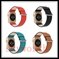 Wholesale dotted bracelet resale online - For Apple Watch Strap Bands Genuine Real Leather Polka Dot Straps Band mm Bracelets With Adapter