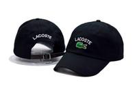 Wholesale best hat design for sale - Group buy Top Design best quality glof polo Hat The Frog Sipping Drinking Tea Baseball Dad Visor Cap Kanye West Wolves hat Indians crocodile hat