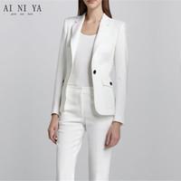 009f526fe784 White Female Office Uniform Elegant Pant Suits 2 Piece Womens Trouser Suit  Blazer Womens Business Suits Ladies Formal Suits