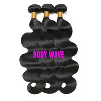en saç demeti satışı toptan satış-Sıcak Satış Ucuz 8a Vizon Brazillian Vücut Dalga İşlenmemiş Brezilyalı perulu hint Virgin İnsan Saç Toptan Brezilyalı Saç Örgü Demetleri