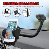 cep telefonu üniversal braketi toptan satış-Evrensel uzun kol Araba tutucu cam cep telefonu araba montaj dirseği desteği iPhone GPS MP4 için