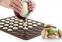 silikon-makkaronat großhandel-Silikon Macaron Macaroon Gebäck Ofen Backform Blatt Matte 48-Cavity DIY Mold Backmatte Esteiras Forros Backwerkzeug