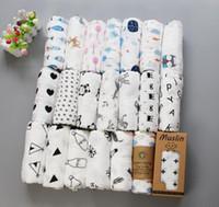 cama do bebê venda por atacado-62 estilos Bebê Musselina Swaddles 100% Algodão Cobertores Berçário Cama Recém-nascidos Swadding Toalhas de Banho 122x122 cm Criança Nursery Bedding Cobertores