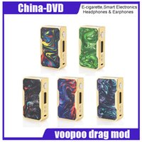 Wholesale speed electronics - Authentic VOOPOO DRAG W TC Box MOD Gold Edition Max W Fast Fire Speed with Chip Battery Multiple Modes Electronic Cigarettes mod