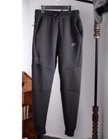 yeni spor pantolonu toptan satış-2018 sonbahar yeni pantolon Paris moda mektup dikiş baskı ile erkekler rahat pantolon spor koşu pantolon toptan