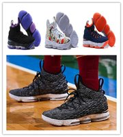 Wholesale James Shoes White Black - new 2018 Men Basketball Shoes LB XV Ashes Ghost EQUALITY Floral Cavs Sneakers Basketball Shoes James 15s Trainers vapormax size us 7-12