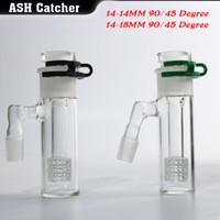 partes al por mayor-Nuevo capturador de cenizas Ajustar el receptor de ceniza de vidrio 3 partes 14/18 45/90 ° con bong de vidrio envío gratis