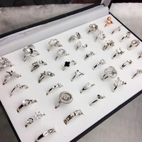40 Styles Pearl Ring Settings DIY Ring Setting Fashion Jewelry Pearl Ring Wedding Rings 925 Silver Rings For Female DIY Gift