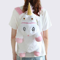Wholesale ribbon toys children resale online - Unicorn Cute Plush Backpacks CM Cartoon Animal Doll Soft Stuffed Toy Children Kid Fluffy Bag CNY679
