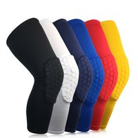Wholesale Leg Compression Wrap - 1 Pair Honeycomb Sport Safety Volleyball Basketball Kneepad Compression Socks Knee Wraps Brace Protection Knee Pads Calf Leg Sleeve