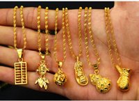 Wholesale vietnam gold chain necklace for sale - Group buy fashion gift necklaces sale k brass gold plate necklace women Solid necklace Vietnam sand gold pure brass gold jewelry Collarbone chain
