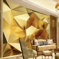 dreidimensionale tapeten großhandel-Einfache Wandbild Nordic TV Hintergrund Wand benutzerdefinierte Wandbilder dreidimensionale Hintergrund Wand Wohnzimmer Tapete