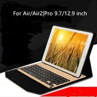Wholesale Alloy Keyboard - New 12.9 inch iPad Pro wireless Bluetooth keyboard leather lightweight aluminum alloy tablet keyboard Bluetooth Keyboard