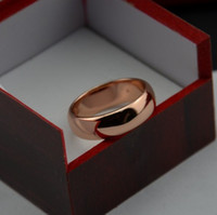 Wholesale Color Fade Ring - New arrive Never fading 18k rose Gold Color 6mm Brand Rings For Women men Wedding lovers Rings Fine jewelry Whosesale