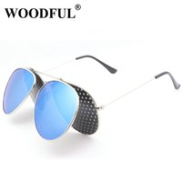 Wholesale glasses sunshine - 2018 Double Layer Lenses Sunglasses Mens Aviator Sunglasses Mirror with Pin hole hole lense protected sunshine glasses