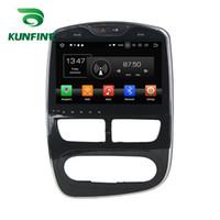 android telefone analógico tv venda por atacado-4 GB RAM Android 8.0 Octa Núcleo Do Carro DVD Player GPS Sat Navi Estéreo para Renault Clio 2016 Digital / Analógico Rádio Headunit Deckless