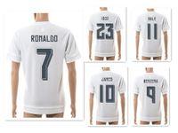 Wholesale ronaldo top shorts resale online - Season RONALDO Athletic Soccer Jerseys Shirts Training Soccer Jerseys Customized Thai Quality Soccer Top Football Tops