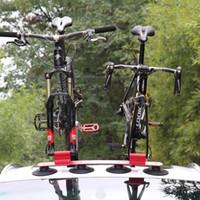 багажник для автомобиля оптовых-PALFA Bicycle Rack Suction Roof-Top Bike Car Racks Carrier Quick Installation Roof Rack For MTB Mountain Road Bike Accessory