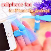 porzellan handy großhandel-Mini kühler Mikro-USB-Fan-Handy USB-Gadget-Kühler-Fan-Tester-Handy für Typ c Samsung S10e S10 plus iPhone X XS MAX XR