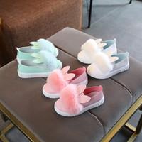 weiße sandalen für kinder großhandel-BABY BLAU ROSA WEISS Kinderschuhe Mädchen Prinzessin Schuhe Mode Mädchen Sandalen Kinder Designer einzelne Schuhe neue Mädchen Turnschuhe