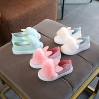 sandales bleu enfant achat en gros de-BABY BLUE PINK WHITE chaussures enfants filles princesse chaussures filles de mode sandales enfants designer chaussures simples nouvelles filles baskets