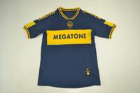 nylon jersey hemden großhandel-2007 boca home trikots retor trikots Riquelme klassische Sporthemden Sportbekleidung Roman