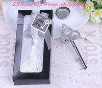 table decorations for wedding shower Australia - (25 Pieces lot) Chrome wedding and event party favors of Key to My Heart Collection key design bottle opener for bridal showers
