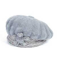 Wholesale earmuffs for women resale online - 8PCS SINGYOU Winter Mam Hat Lady Warm Earmuffs Knitted Hats Casual Solid Color Flower Headwear Beret for Women