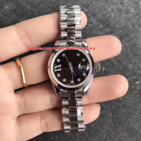 Wholesale black diamond sapphire - 8 Color Luxury High Quality Watch 26mm 31mm 36mm President Diamond 279161 178343 279174 279160 279173 Automatic Ladies Women's Watches