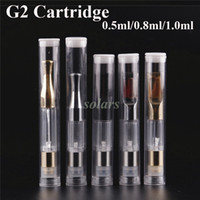 Wholesale Bud Silver - Top Quality None Spilling G2 Atomizer Gold Silver Bud Touch Tank 0.5ml 0.8ml 1.0ml for Thick Oil Cartridge