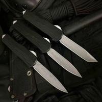 hoja doble de damasco al por mayor-E07 damasco + VG10 cuchilla Rama mango doble acción táctica autodefensa plegable edc cuchillo cuchillo de camping cuchillos de caza navidad