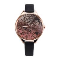 часы лотос оптовых-OKTIME Fashion Women 3D Lotus Retro Design Leather Band Analog Alloy Quartz Wrist Watch simple women alloy watches relogio A80