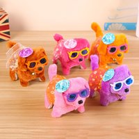 Wholesale old dog doll for sale - Group buy Fashion Electronic Walking Dogs Kids Children Interactive Electronic Pets Doll Plush toys Neck Bell Barking Electronic Dog Toy OTH295