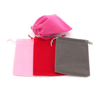 Wholesale lipsticks store resale online - 20pcs Velvet Gift Bags Drawstring Jewelry Pouches Lipstick Cosmetic Storage Bags Wedding Party Favor Gift Stored Bag