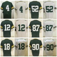 Wholesale Clay Matthews - 4 Brett Favre 12 Aaron Rodgers Jersey 18 Randall Cobb 52 Clay Matthews 87 Jordy Nelson Elite Game Stitched Jerseys College Wholesale