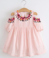 Wholesale Tutu Design For Baby - Baby Clothes Girls Dress Summer Style Princess Dress Children Clothing Half Sleeves Casual pattern Design for Girls Clothes