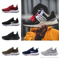 Wholesale Women Sport Shoes Designer - (with box ) The ten Virgil Abloh X Air Presto off Women Men Running Shoes white black Sport shoes Casual Designer Sneakers Eur 36-45
